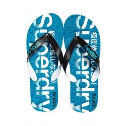 ΑΝΔΡΙΚΗ ΣΑΓΙΟΝΑΡΑ SUPERDRY SCUBA GRIT FLIP FLOP MF3106ET W2Y BLUE